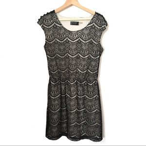 Guess Lace Dress is Black and Off White Lining 6